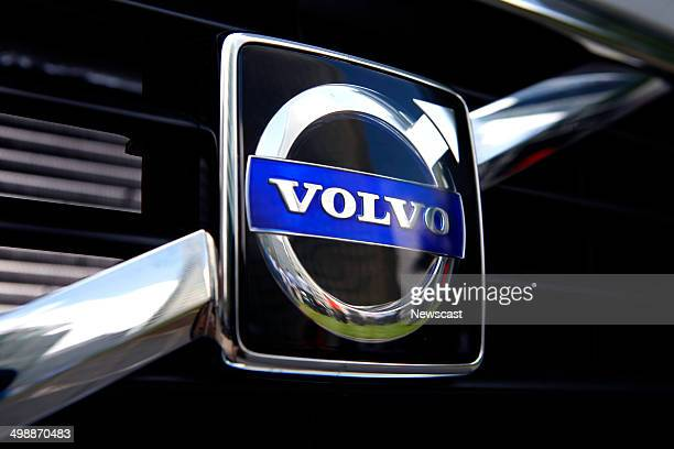 Picture shows a detail of a highly polished Volvo in London