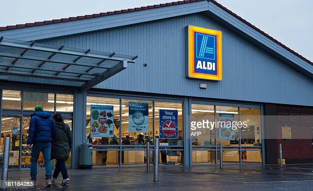 A picture shows a general view of a branch of British food retailer Aldi in London on February 9 2013 The British supermarket chain Aldi voiced anger...
