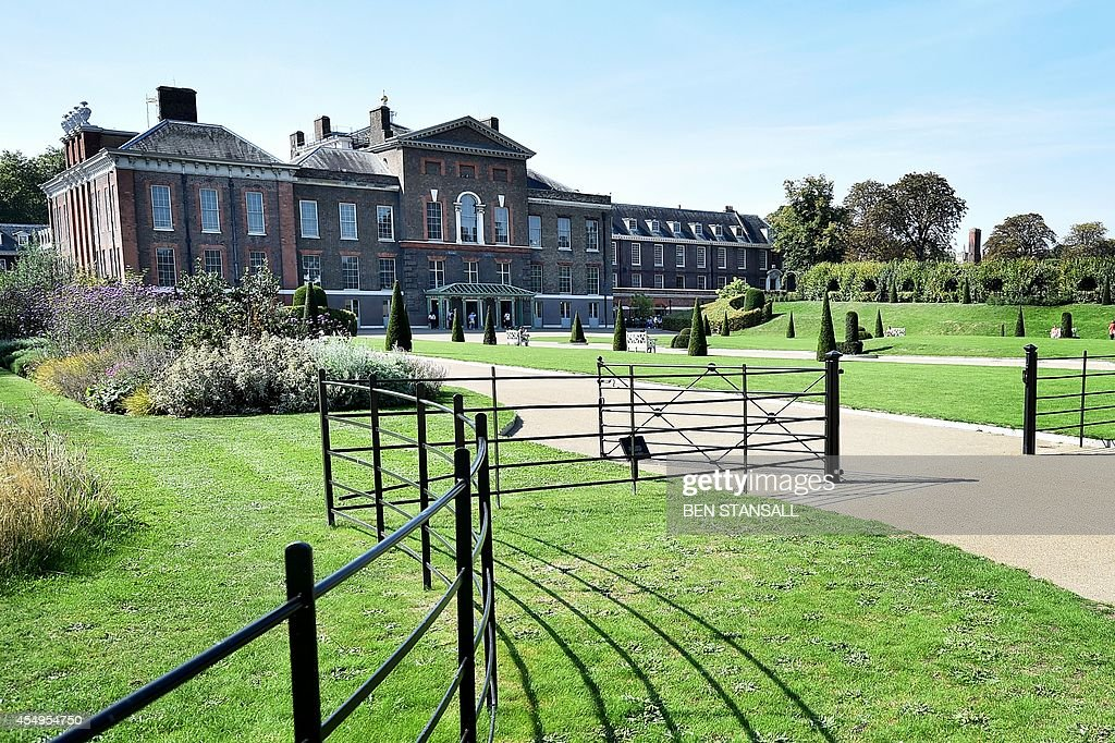 A picture shows a general view of Kensington Palace in London on September 8 following the announcement that Britain's Prince William Duke of...