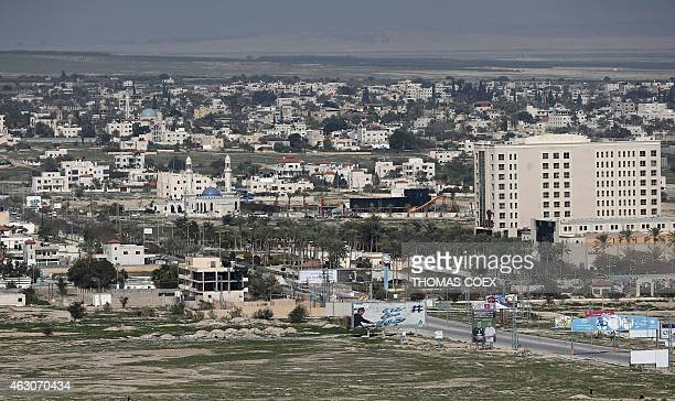 A picture shows a general view of the Palestinian West Bank City of Jericho on February 9 2015 AFP PHOTO / THOMAS COEX