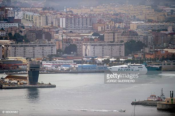 Picture shows a general view of the Spanish seaport of Ceuta on the northern coast of Africa on October 2016 Russia scrapped plans today to refuel...
