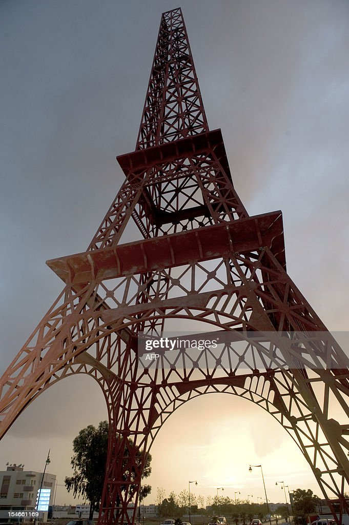 A picture shows a model of the French 'Tour Eiffel' (Eiffel Tower) in the Moroccan city of Fes on October 20, 2012 . The municipality of Fes built the replica of the world famous Eiffel tower to 'symbolise' the friendship between France and Morocco.