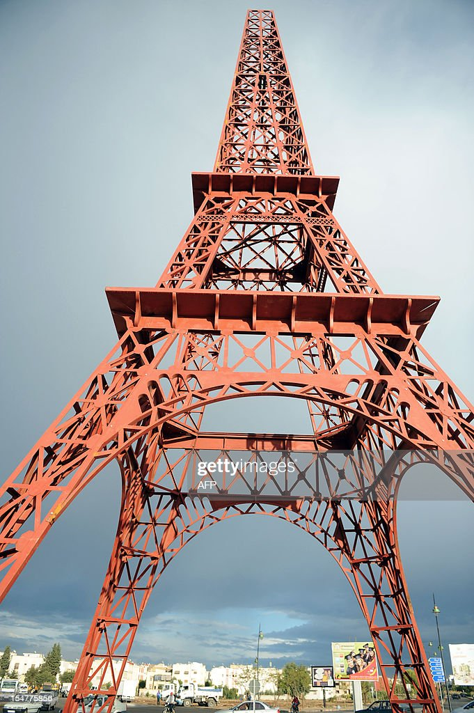A picture shows a model of the French 'Tour Eiffel' (Eiffel Tower) in the Moroccan city of Fes on October 20, 2012 . The municipality of Fes is building the replica of the world famous Eiffel tower to 'symbolise' the friendship between France and Morocco.