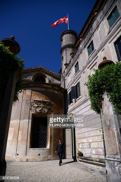 A picture shows a part of Knights of Malta's headquarters Villa Magistrale in Rome before the election of the new Grand Master on April 29 2017...
