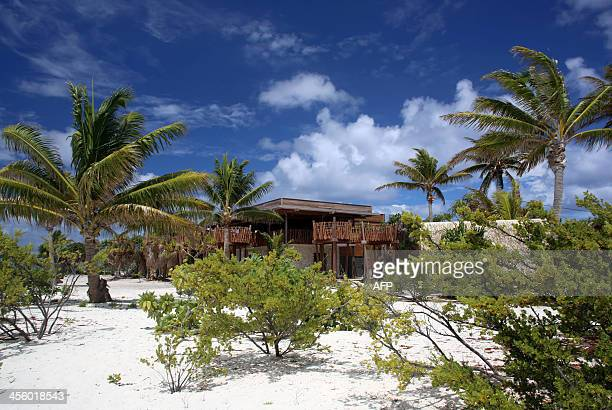 A picture shows a partial view of The Brando an ecofriendly resort on the private island of Tetiaroa on December 10 2013 After two years of...
