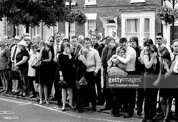 Picture shows a scene in Wootton Bassett high street as crowds gather at a repatriation ceremony As the death toll of British forces fighting in...