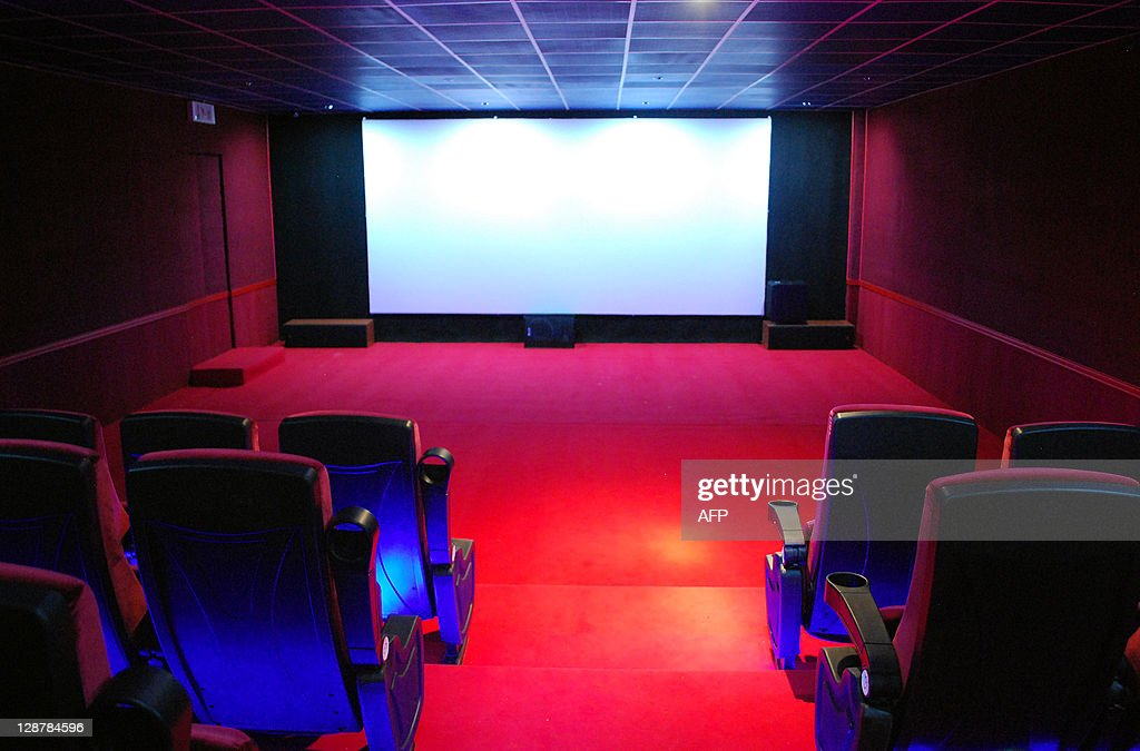 A picture shows a screening hall at the Al-Feel multiplex cinema in the eastern Libyan city of Benghazi on October 6, 2011. The day after the Libyan revolution erupted in February, Benghazi's posh multiplex cinema closed its doors, its screens likely to remain dark until the war ends and the boys come home. AFP PHOTO/ABDULLAH DOMA
