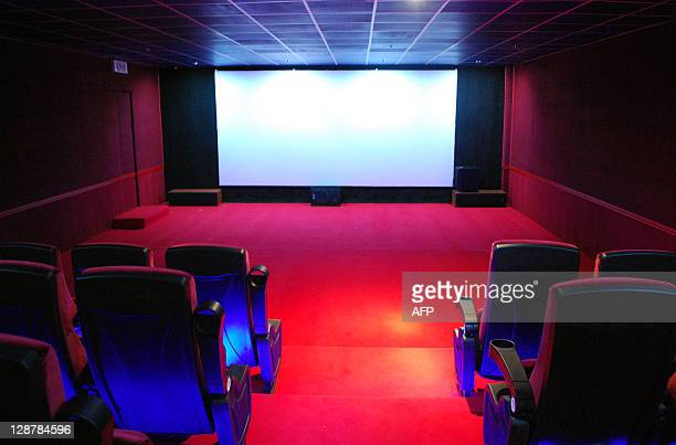 A picture shows a screening hall at the AlFeel multiplex cinema in the eastern Libyan city of Benghazi on October 6 2011 The day after the Libyan...