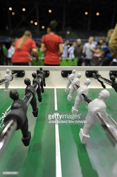 A picture shows a table football during the table football World Cup in Nantes western France on December 22 2013 AFP PHOTO / JEANSEBASTIEN EVRARD
