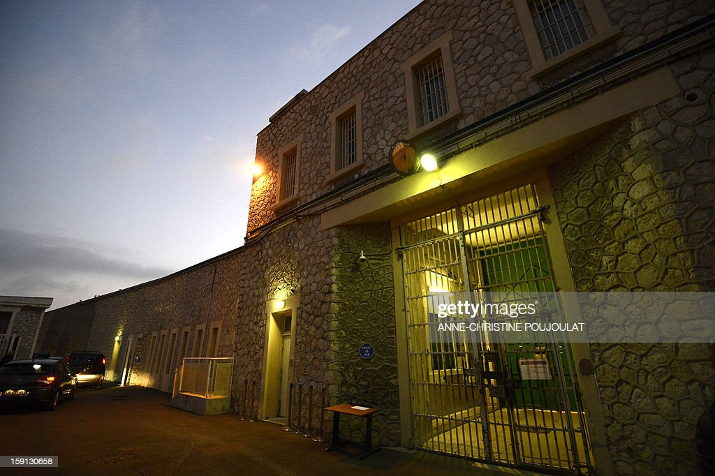 A picture shows a yard of the Baumettes prison in Marseille, southern France, on January 8, 2013. French Conseil d'Etat (State Council, French highest administrate authority) ordered last month a rat-disinfestation in this overcrowed, dilapidated jail. General Inspector for jails Jean-Marie Delarue denounced in a survey last December 'serious violations of fundamental human rights', causing 'inhumane' detention conditions. AFP PHOTO / ANNE-CHRISTINE POUJOULAT