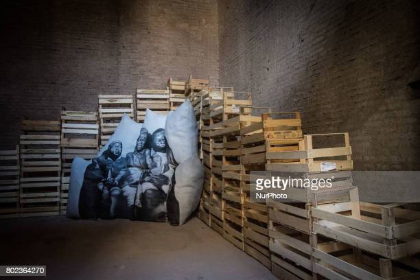 A picture shows an installation by artist Thorsten Kirchhoff titled quotCuldesacquot on June 27 2017 at the Palatine Hill in Rome during a press...
