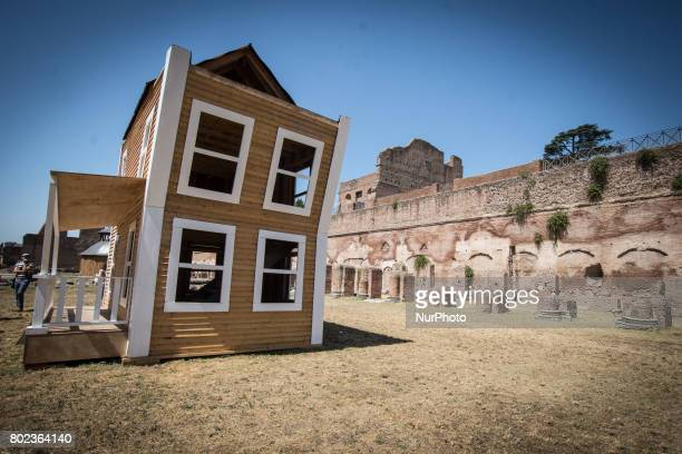 A picture shows an installation by Italian duet Vedovamazzei aka Simeone Crispino and Stella Scala titled quotAfter lovequot on June 27 2017 at the...