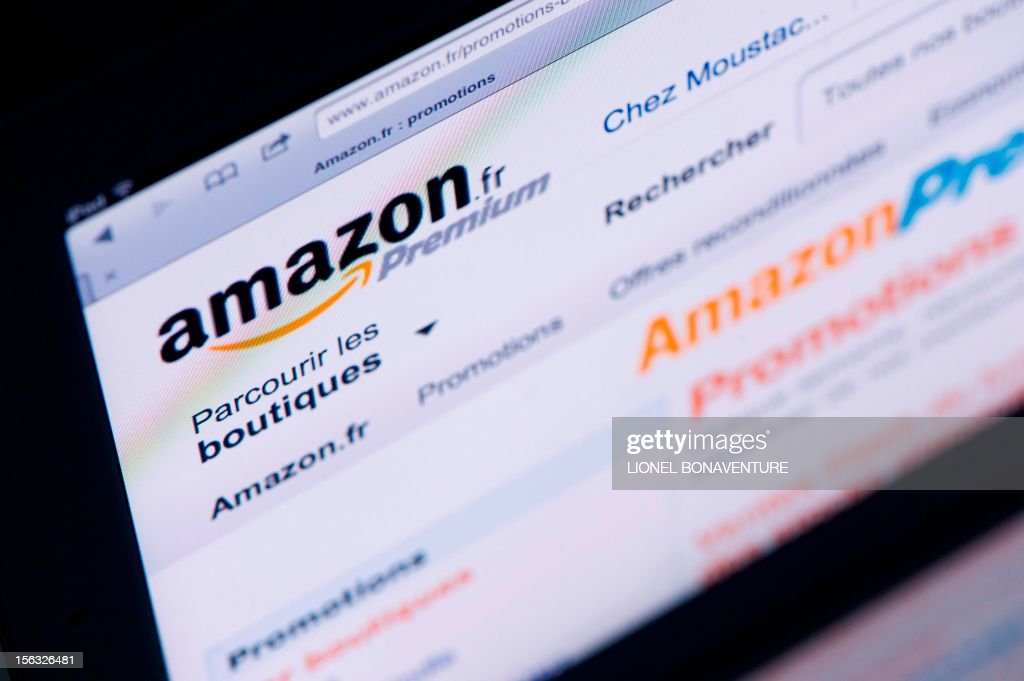 A picture shows an Ipad with an 'Amazon' web page on November 13, 2012 in Paris. French tax authorities have demanded $252 million in back taxes and interest from online retailer Amazon, according to a company document on November 13, 2012.