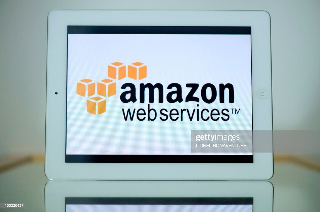 A picture shows an Ipad with the logo of 'Amazon web services' on November 13, 2012 in Paris. French tax authorities have demanded $252 million in back taxes and interest from online retailer Amazon, according to a company document on November 13, 2012.