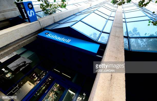 Picture shows 'Banc Sabadell' new headquarters in Alicante on October 6 2017 Banc Sabadell Catalonia's secondbiggest bank said today it was shifting...