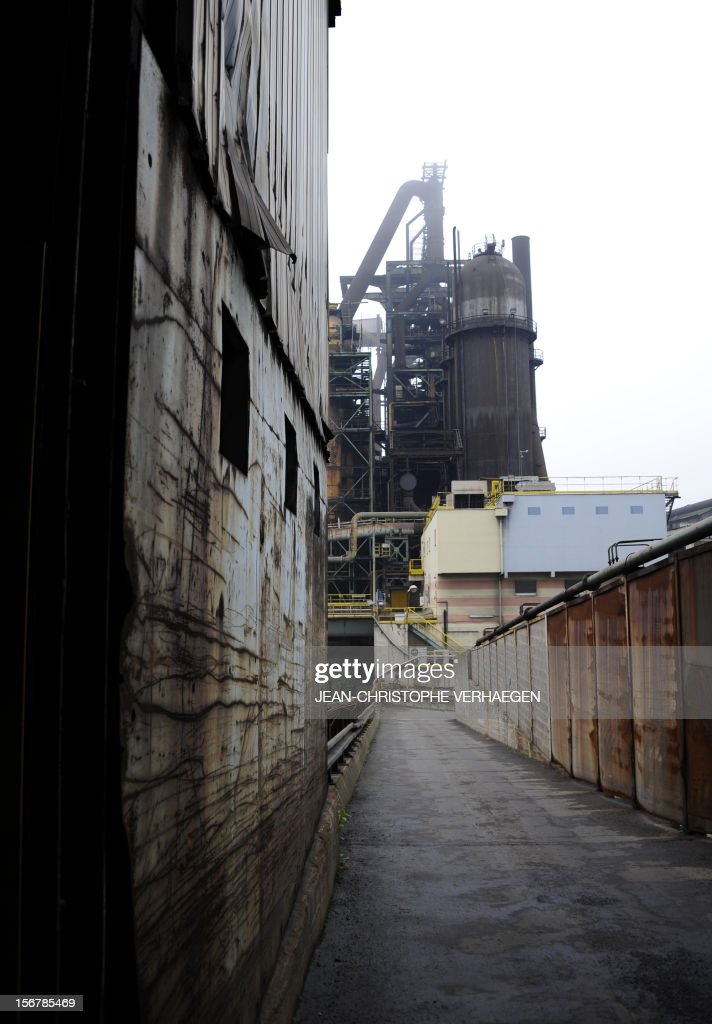 A picture shows blast furnaces of steel giant at ArcelorMittal's Florange site in Hayange, eastern France, on November 20, 2012. ArcelorMittal's management said on November 19, 2012 that the 'situation is even more sluggish in 2013 than in 2012' for some of its activities during an Extraordinary Central Works Council which concluded without providing informations about potential buyers.