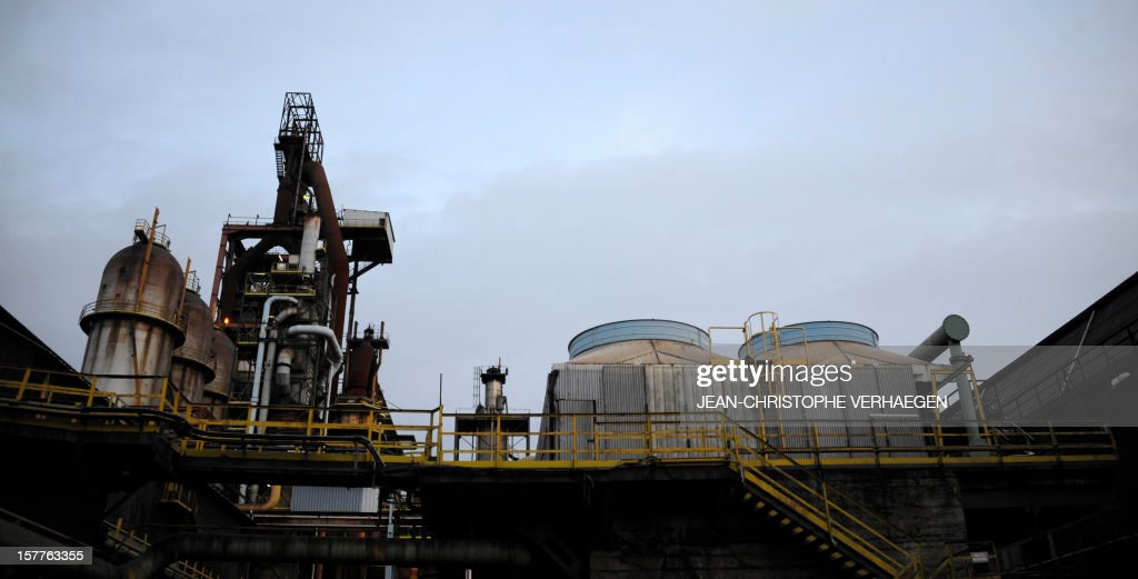 A picture shows blast furnaces of steel giant at ArcelorMittal's Florange site in Hayange, eastern France, on December 6, 2012 in Hayange, one day after a meeting with French Prime minister. French local newspaper Le Republicain Lorrain and other medias revealed that either Russian Severstal or Belgian CMI steel groups were reportedly the investors ready and willing to put 400 million euros ($515 million) into the Florange steel plant, at the centre of a dispute between the owner ArcelorMittal and the government.