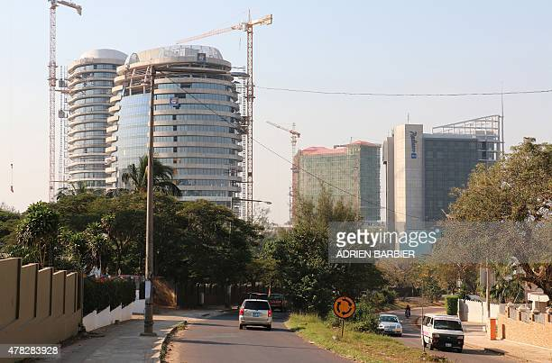 A picture shows buildings under construction in Maputo on the eve of the 40th anniversary of Mozambique's independence from Portugal on June 24 2015...
