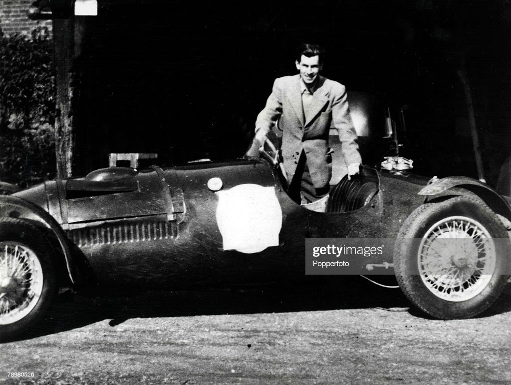Picture shows David Blakely pictured in his car in 1955, murdered by his former lover Ruth Ellis outside a Hampstead, London pub in April 1955, Ellis was hanged on 13th July 1955 for the crime of passion