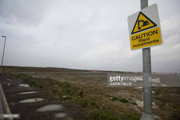 A picture shows development land where the reactors of Hinkly C nuclear power station at Hinkley Point will be built on the west coast of England on...