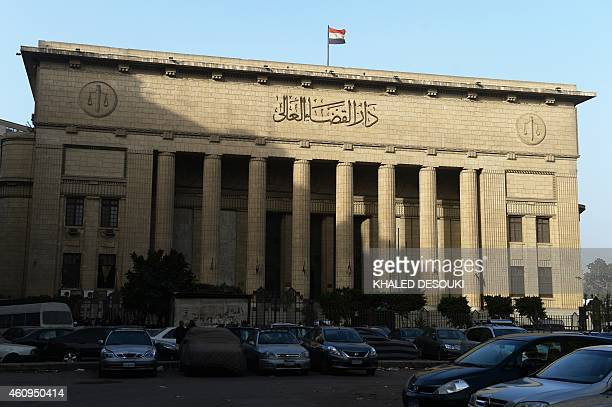 A picture shows Egypts High Court in downtown Cairo on January 1 during the hearing of three AlJazeera reporters on charges of aiding the Muslim...