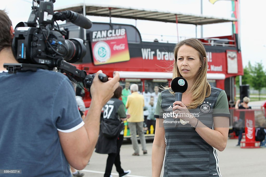 Picture shows fan activities of the German national team fan club before the international friendly football match between Germany and Slovakia at WWK-Arena on May 29, 2016 in Augsburg, Germany.