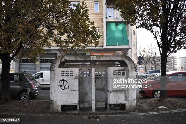 A picture shows old 'Vespasiano' toilet or public urinal on November 17 2017 in Turin AFP is presenting a worlwide photo theme on public toilets...