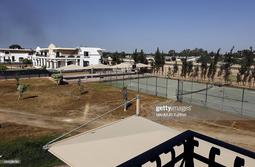 A picture shows part of the US diplomatic compound in the Libyan capital Tripoli on August 31 after members of the Fajr Libya Islamist militia moved...