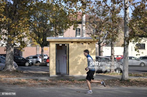 A picture shows public toilets on November 17 2017 in Turin AFP is presenting a worlwide photo theme on public toilets ahead of the United Nations...