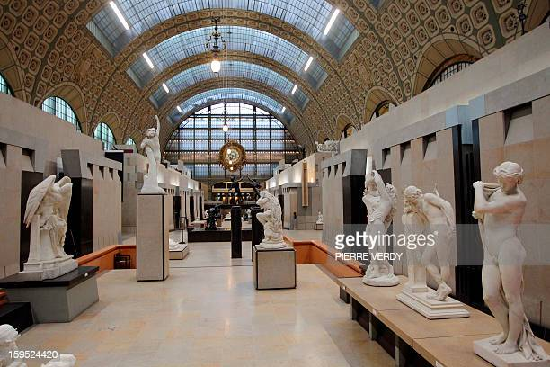 A picture shows sculptures in the main gallery of the Orsay Museum in Paris on October 12 2011 With the inauguration today of new galleries the...