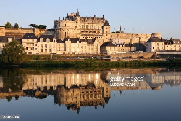 A picture shows the Amboise Castle on June 14 in Amboise central France / AFP PHOTO / LUDOVIC MARIN