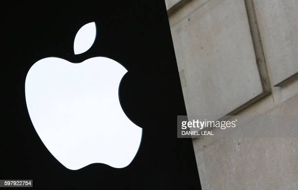 A picture shows the Apple logo outside the Apple store in Covent Garden in London August 30 2016 The European Commission's demand for Apple to pay...