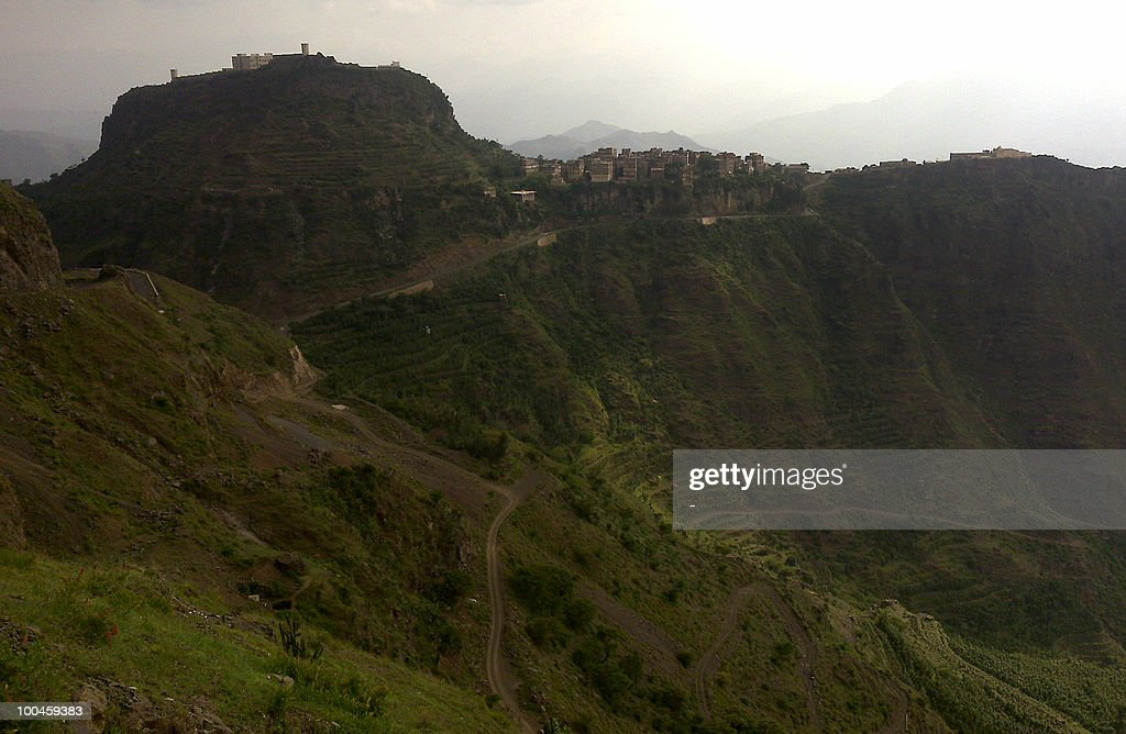 A picture shows the area of Al-Hamya Al-Dakhiliya, 70 kms (45 miles) west of the Yemeni capital Sanaa, near the site where two US tourists were kidnapped on May 24, 2010. Armed tribesmen kidnapped two US tourists and their Yemeni driver in a bid to secure the release of a fellow tribesman held in Sanaa central prison, the driver and a tribal source said.