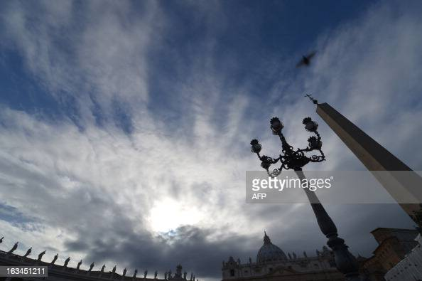 A picture shows the dome of St Peter's basilica on March 10 2013 at the Vatican Roman Catholic cardinals from around the world will assemble in the...