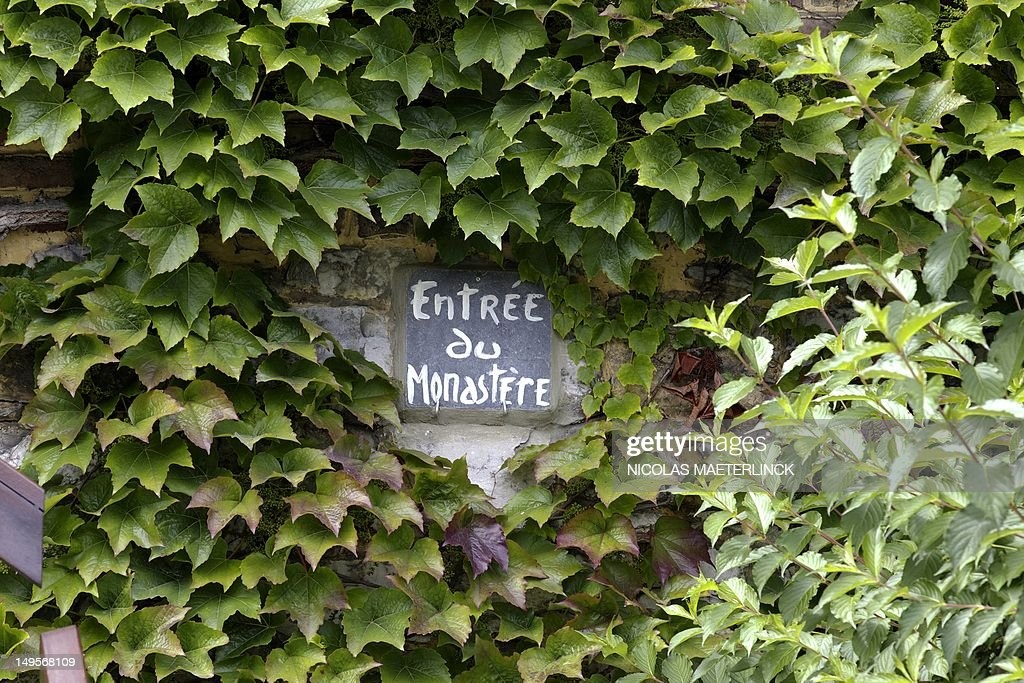 A picture shows the entrance sign of the convent of the 'Poor Clares' order in Malonne near Namur on July 31, 2012. Michelle Martin, the ex-wife and accomplice of notorious Belgian paedophile killer Marc Dutroux, asked to be taken into the convent after she won parole halfway through a 30-year sentence, but under orders to 'keep her distance' from relatives of victims.