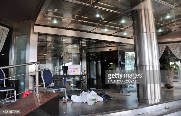 A picture shows the entrance to the Radisson Blu hotel in Bamako on November 21 2015 Investigators in Mali are hunting at least three people...