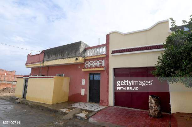 A picture shows the family house of 29yearold Tunisian Ahmed Hanachi who stabbed two young women to death in the southern French city of Marseille...