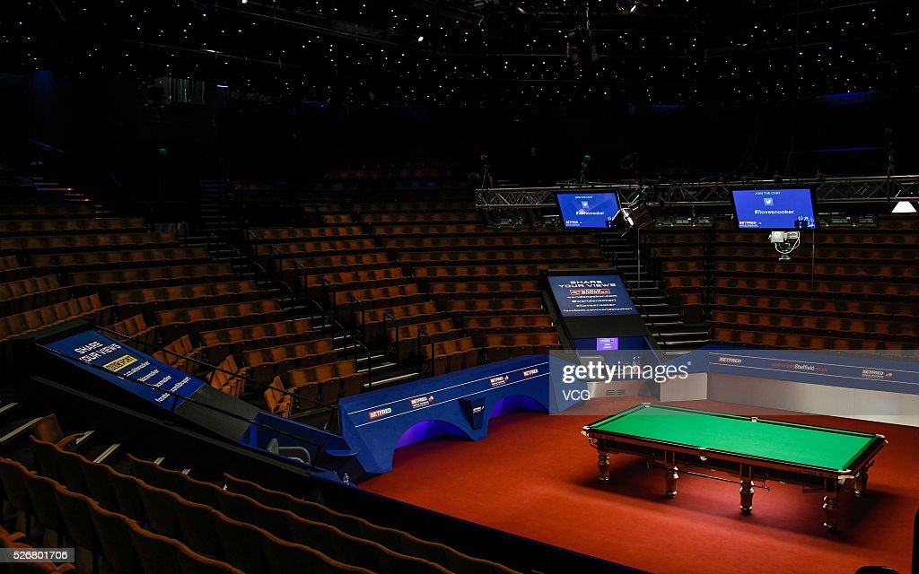 Picture shows the field before the final match between Ding Junhui of China and Mark Selby of England on day sixteen of Betfred World Championship 2016 at The Crucible Theatre on May 1, 2016 in Sheffield, England.