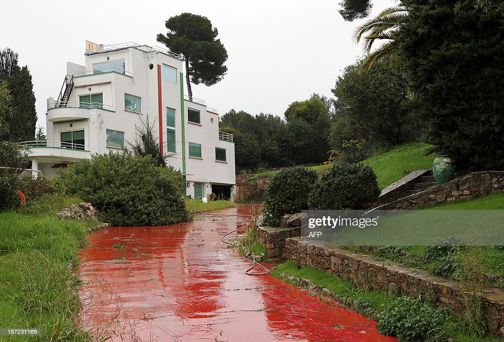 A picture shows the former residence of French singer Charles Trenet who died in 2001 at 87 years old, in Antibes, southern France, on November 30, 2012, in which are stored dozens of objects that belonged to him. Trenet's solitary successor and former personal secretary Georges El Assidi, 52, was heard at the courthouse on November 30, 2012 in Grasse, southern France. French justice issued on June 2012 international arrest warrants for French Maurice Khardine and Danish Johan Schluter, two heads of Nest, a Danish company, suspected of defrauding Trenet's solitary successor El Assidi.
