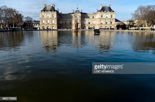 A picture shows the French Senate and the Luxembourg Gardens in Paris on March 5 2015 AFP PHOTO / LOIC VENANCE