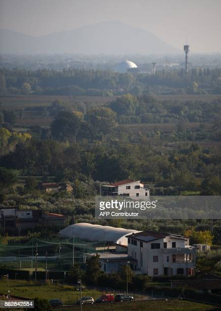 A picture shows the Garigliano Nuclear Power Plant located at the outskirts of Sessa Aurunca 160km southern Rome on October 16 2017 The French...