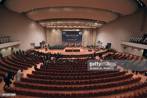 A picture shows the Iraqi parliament in Baghdad on September 8 2014 before a key vote for a new government lineup Iraq's parliament was to meet today...