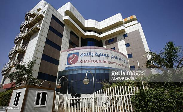 A picture shows the Khartoum Breast Care Centre the only specialised hospital for the breast cancer in Sudan on October 15 2015 The centre is a...