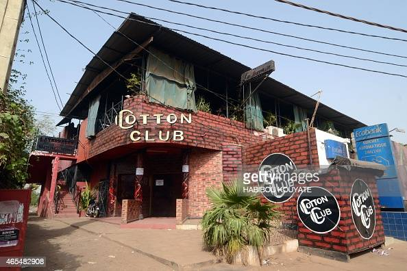 A picture shows the La Terrasse bar restaurant also housing a nightclub that was attacked in Bamako on March 7 2015 Five people including two...