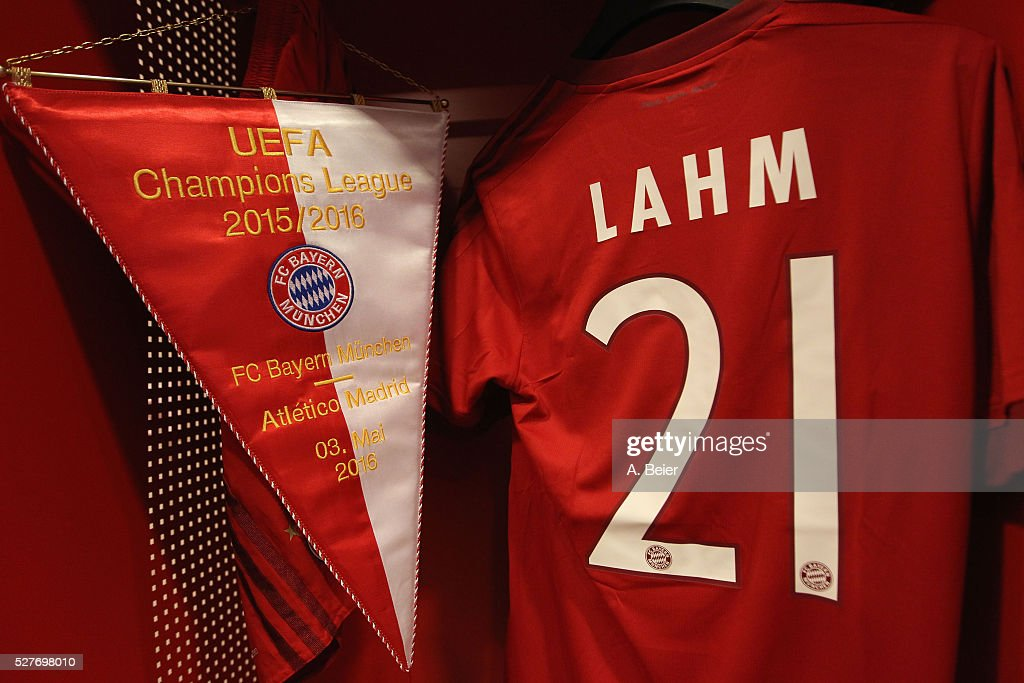 Picture shows the locker of FC Bayern Muenchen team captain Philipp Lahm at the changing room before the Champions League semi final second leg match between FC Bayern Muenchen and Club Atletico de Madrid at Allianz Arena on May 3, 2016 in Munich, Germany.