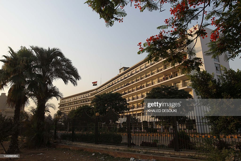 A picture shows the Maadi military hospital in Cairo on June 7, 2012, where the family of ousted president Hosni Mubarak requested his transfer from Tora prison. The health of Mubarak has deteriorated since his transfer to prison after he was sentenced to life in jail over the killing of protesters, the official news agency said.