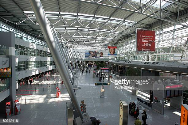 Picture shows the main terminal of theDuesseldorf airport on April 30 2008 in Duesseldorf Germany