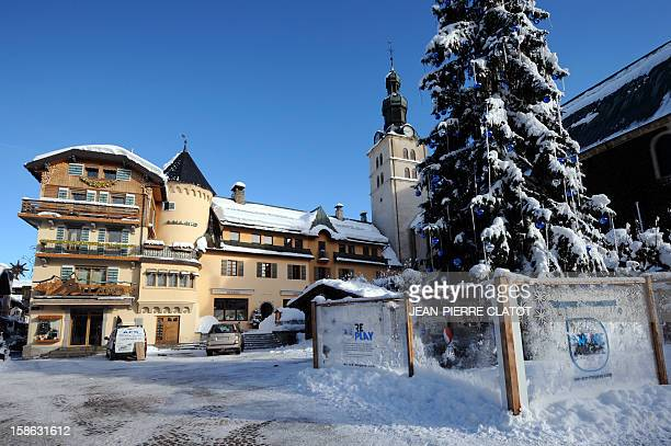 EMONET A picture shows the Maison Allard luxury store on December 19 2012 in the French luxury ski ressort of Megeve French Alps The Maison Allard...