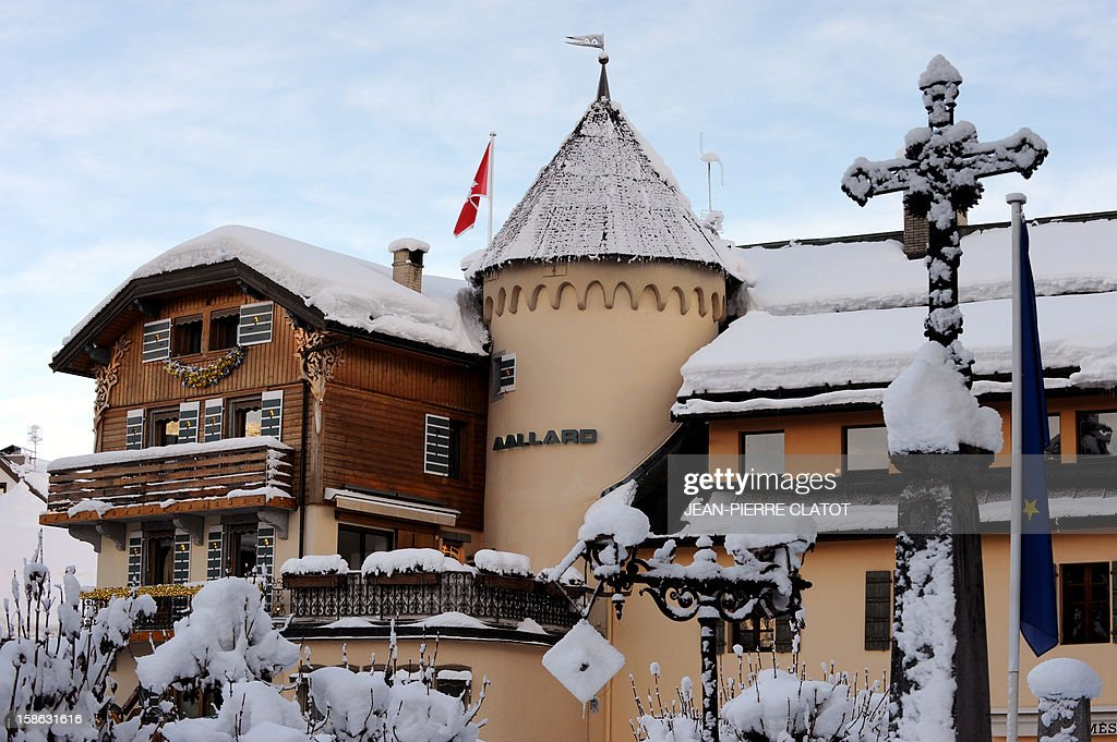 EMONET - A picture shows the Maison Allard luxury store on December 19, 2012 in the French luxury ski ressort of Megeve, French Alps. The Maison Allard created the stretch ski pants (fuseau).