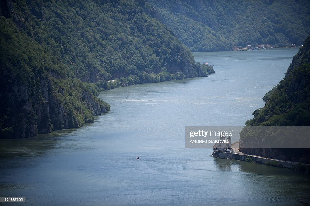 Picture shows the Mraconia Monastery on the Romanian side of the Danube river near the Serbian town of Tekija 225 kilometres east of capital Belgrade...
